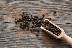 Grains of black pepper Royalty Free Stock Photography