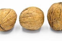 Grains bruns beiges sains et nutritifs de noix image stock