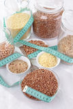 Grains and cereals stock photos