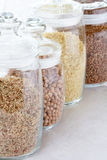 Grains and cereals in the  jar Royalty Free Stock Photography