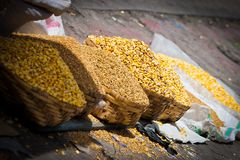 Grains and cereals for sale Stock Photography