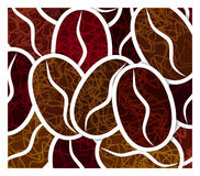 Grains of coffee. Background from grains of coffee Royalty Free Illustration