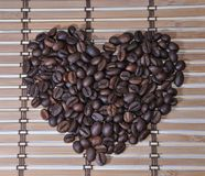 Grains of coffee as a heart Stock Photo