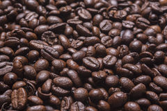 Grains of coffee background. soft focus.  Royalty Free Stock Images