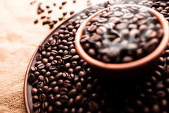 Grains of coffee Royalty Free Stock Photo