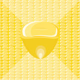 Grains of corn. Vector grains of corn on a scattered background Royalty Free Stock Images