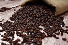 Grains de café Photos libres de droits