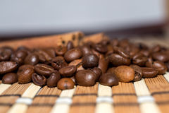 Grains de café Photos stock