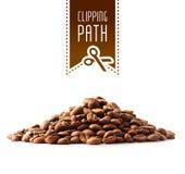 Grains de café avec le chemin de coupure Image libre de droits