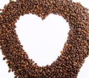 Grains de café comme cadre Photographie stock libre de droits