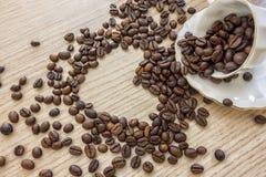 Grains de café, concept, amour Photo stock