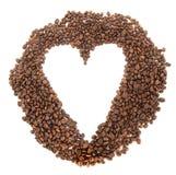Grains de café d'amour Photos libres de droits