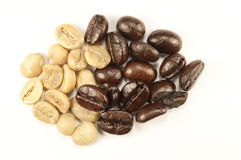 Grains de café d'arabica Photos stock