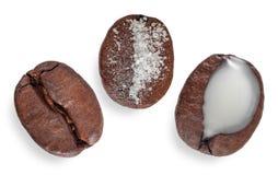 Grains de café 3 dans 1 Photographie stock