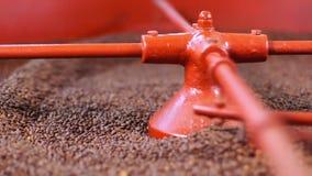 Grains de café dans la machine industrielle clips vidéos