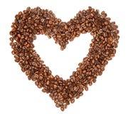 Grains de café dans une forme de foyer Image libre de droits