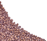 Grains de café de Brown, plan rapproché des grains de café Images stock