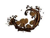 Grains de café en chocolat illustration stock