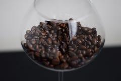 Grains de café en verre Image libre de droits