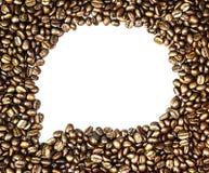 Grains de café et tasse de café Image libre de droits