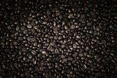Grains de café et tasse de café Images libres de droits