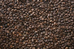 Grains de café foncés Photo libre de droits