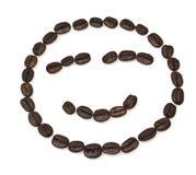 Grains de café formés par sourire Photographie stock libre de droits