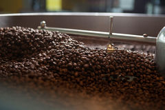 Grains de café fraîchement rôtis - coffeelover Photo stock