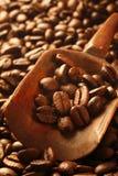 Grains de café frais, une denrée valable image stock
