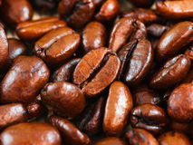 Grains de café, instruction-macro images stock