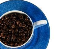 Grains de café rôtis foncés Photos stock