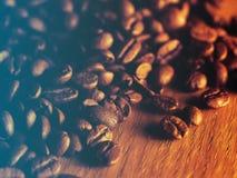 Grains de café rôtis frais Image stock