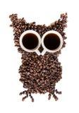 Grains de café sur le fond blanc Image libre de droits