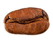 Grains de café un, d'isolement Photographie stock libre de droits