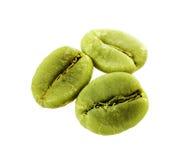 Grains de café verts de régime d'isolement Images libres de droits