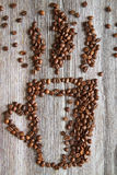 Grains de café VIII Photo stock