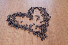 Grains de café X Images libres de droits