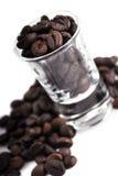 Grains de café de café express Photo libre de droits