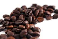 Grains de café de café express Photographie stock libre de droits