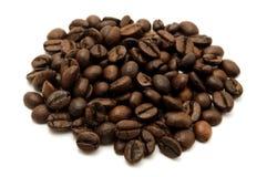 Grains de café rôtis Photos libres de droits