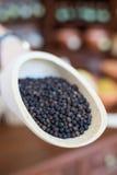 Grains de poivre noirs Photographie stock libre de droits