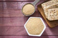 Grains et amarantus de barre d'amaranthe Photographie stock libre de droits