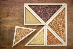 Grains gratuits de blé et de gluten Photographie stock