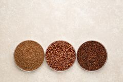 Grains gratuits de Teff, de quinoa et de gluten de kaniwa Photos libres de droits