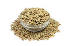 Grains lentils in a glass Royalty Free Stock Image