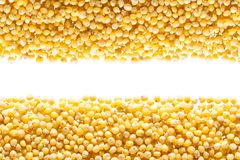 Grains from millet Stock Photo