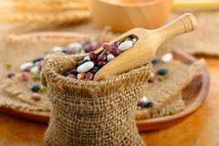Grains mix beans royalty free stock photo
