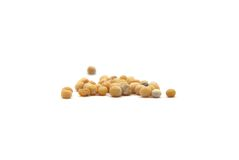 Grains of mustard seed on white Stock Images