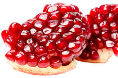 Grains pomegranate close-up Stock Photos