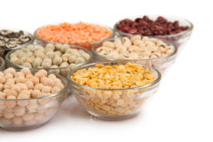 Grains pulses and beans Royalty Free Stock Images